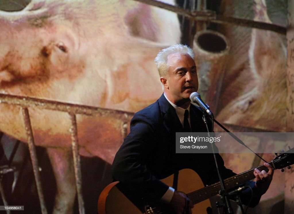 John Feldmann performs 'Free Me.' during The 17th Annual Genesis Awards - Show at The Beverly Hilton Hotel in Beverly Hills, California, United States.