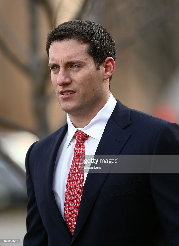 John Femenia, a former Wells Fargo & Co. investment banker, arrives at the Charles R. Jonas Federal Building U.S. Courthouse in Charlotte, North Carolina, U.S., on Friday, Dec. 21, 2012. Femenia was charged last week with leading an $11 million insider trading ring that paid kickbacks in cash and gold for tips on corporate mergers. Photographer: Chris Keane/Bloomberg via Getty Images