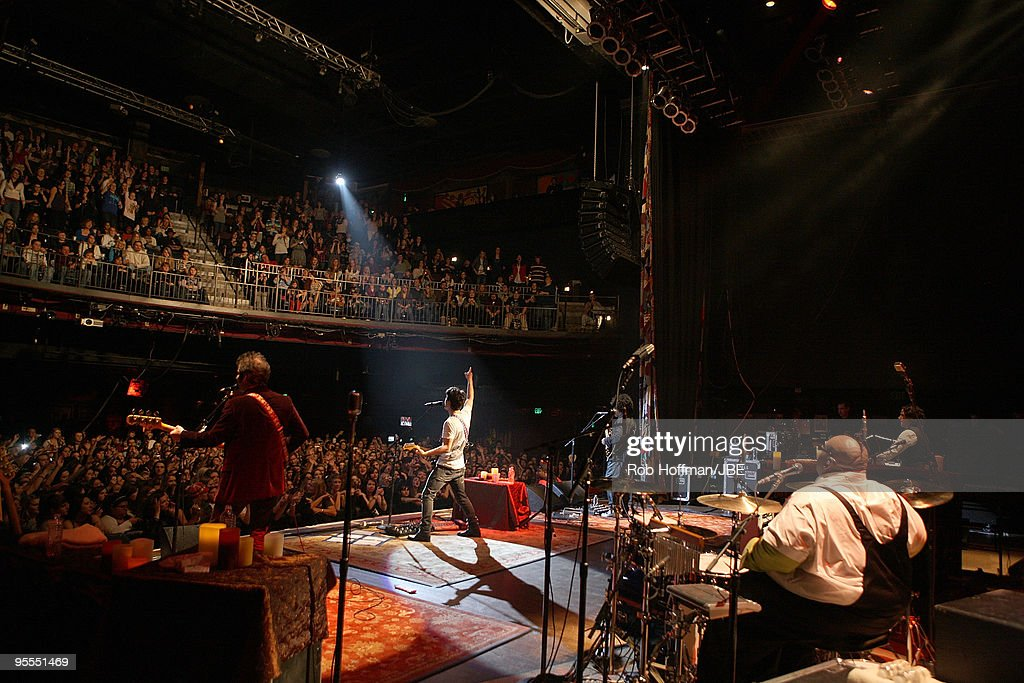 John Fields Nick Jonas Sonny Thompson Michael Bland and Tommy Barbarella perform during the Nick Jonas The Administration tour on January 2 2010 in...