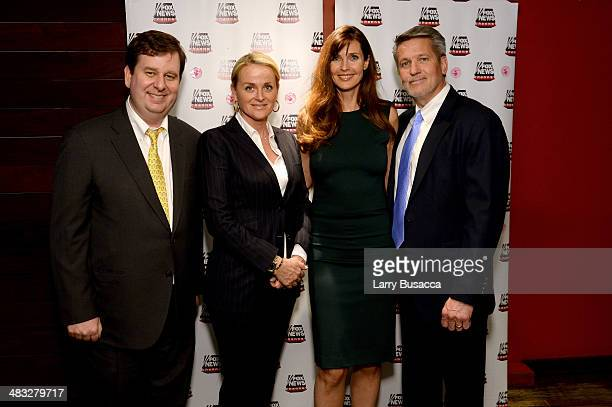 John Finley of Fox News Senior Vice President Programming Development Fox News Suzanne Scott Model Carol Alt and Executive Vice President of...