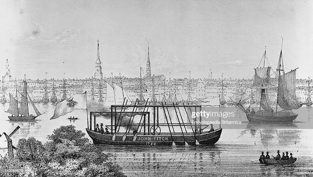 the invention of john fitch John fitch was the first inventor to build a steamboat in the united states -- a 45-foot boat which successfully traveled on the delaware river on august 22, 1787.