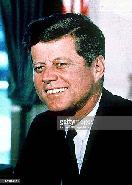 John Fitzgerald Kennedy 35th President of the United States serving from 1961 until his assassination in 1963
