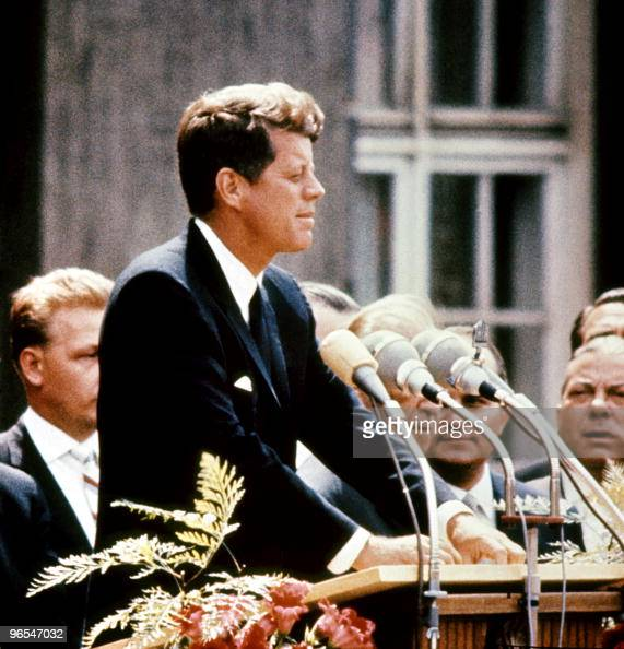 John Fitzgerald Kennedy pictured in the 1960s in the USA 09 November 1960 he was the first Catholic and the youngest person to be elected for...