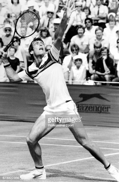 John Fitzgerald of Australia in action during the Wimbledon Championships held at the All England Lawn Tennis and Croquet Club in Wimbledon London...