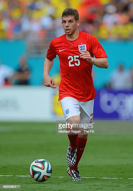 John Flanagan of England on the ball on the ball during the International friendly match between England and Ecuador at Sun Life Stadium on June 4...