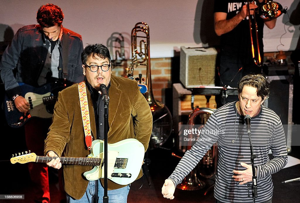 John Flansburgh and John Linnell of They Might Be Giants perform at Music Hall of Williamsburg on December 29, 2012 in the Brooklyn borough of New York City.
