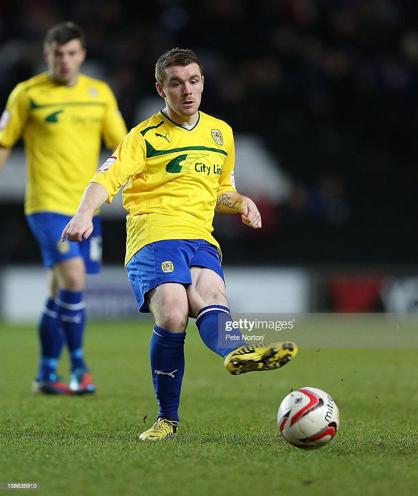John Fleck of Coventry City in action during the npower League One match between Milton Keynes Dons and Coventry City at Stadium mk on December 29, 2012 in Milton Keynes, England.