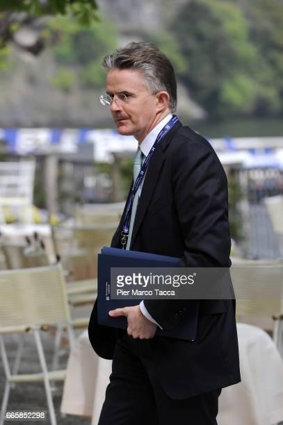 John Flint Chief Executive Retail of HSBC attends 'Lo Scenario dell'Economia e della Finanza' forum at Villa d'Este Hotel on April 7 2017 in Como...