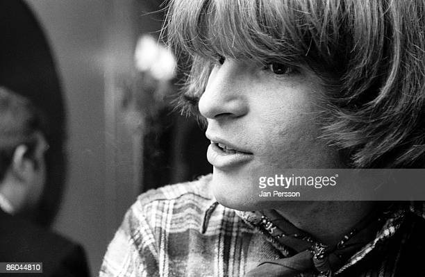 John Fogerty of Creedence Clearwater Revival at a press conference for the band in Copenhagen April 1970