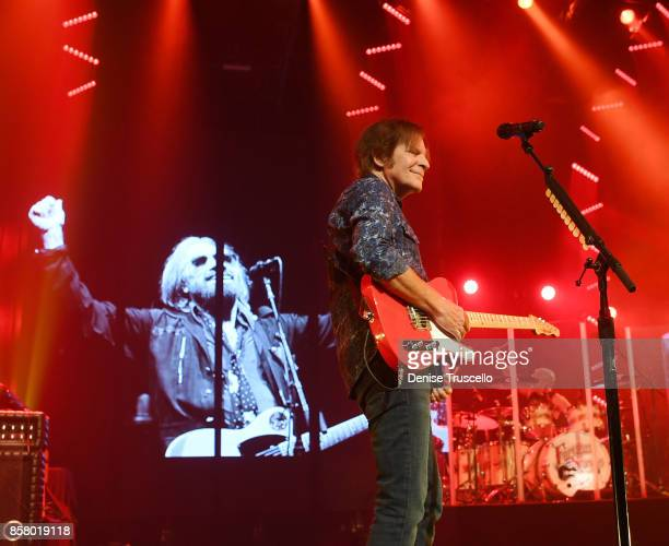 John Fogerty performs ' I Won't Back Down' in honor of Tom Petty and for the victims and families of the Las Vegas tragedy during his show at Wynn...