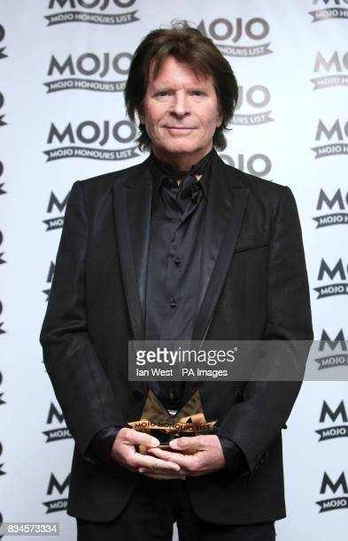 John Fogerty with the MOJO Inspiration Award during the Mojo Honours List award ceremony at The Brewery east London