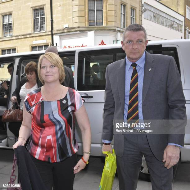 John Foster and Lisa Foster the parents of Private Robert Foster one of three soldiers who was killed in a friendly fire incident in Afghanistan in...