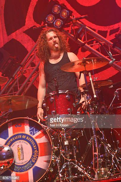 John Fred Young of Black Stone Cherry perform at Sheffield City Hall on November 28 2016 in Sheffield England