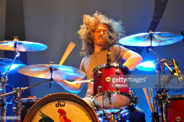 John Fred Young of Black Stone Cherry performs on stage at KOKO on February 28 2014 in London United Kingdom