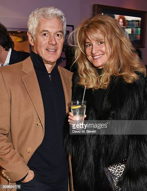 John Frieda and Avery Agnelli attend a cast and crew screening of 'This Beautiful Fantastic' at BAFTA on February 5 2016 in London England