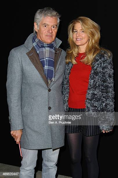 John Frieda and Avery Agnelli attend the Hunter Original show at London Fashion Week AW14 at University of Westminster on February 15 2014 in London...