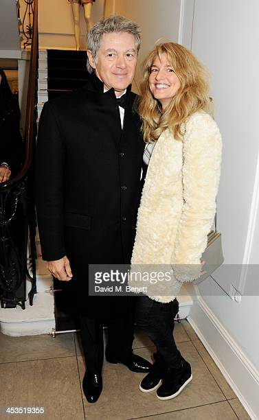 John Frieda and Avery Agnelli attend the Stella McCartney Christmas Lights Switch On at the Stella McCartney Bruton Street Store on December 4 2013...