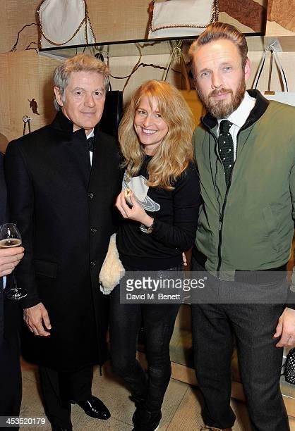John Frieda Avery Agnelli and Alasdhair Willis attend the Stella McCartney Christmas Lights Switch On at the Stella McCartney Bruton Street Store on...