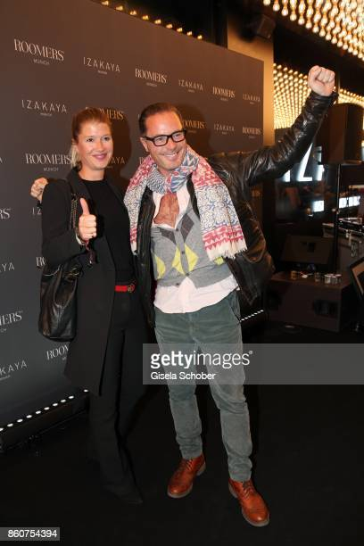 John Friedmann and his girlfriend Tini Fuchs during the grand opening of Roomers IZAKAYA on October 12 2017 in Munich Germany