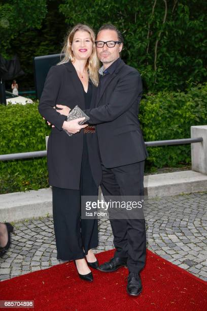John Friedmann and his partner Tini Fuchs attend the Bayerischer Fernsehpreis 2017 at Prinzregententheater on May 19 2017 in Munich Germany