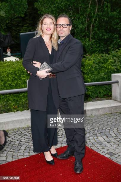 John Friedmann and his partner Tini Fuchs attend the Bayerischer Fernsehpreis 2017 at Prinzregententheater on May 19 2017 in Munich Germany