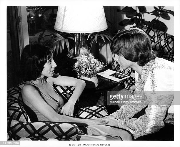 John Friedrich holding Didi Conn's hand in a scene from the film 'Almost Summer' 1978