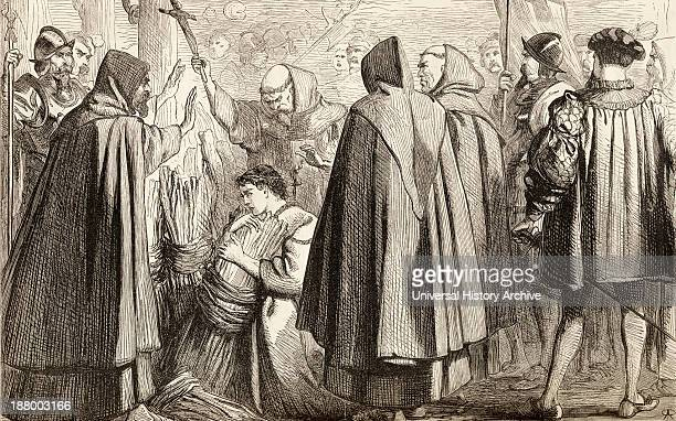 John Frith About To Be Burnt At The Stake For Heresy In 1533 John Frith 1503 To 1533 English Protestant Priest Writer And Martyr From The Book Of...