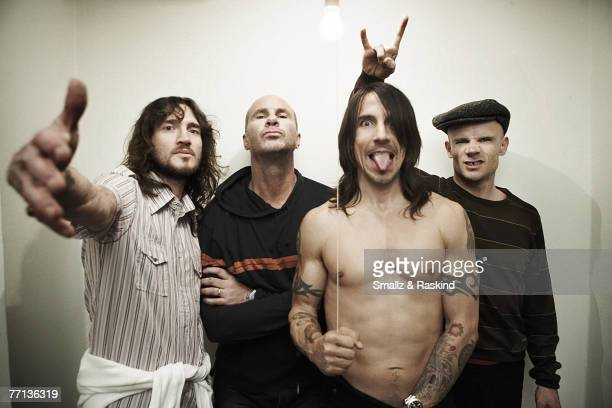 John Frusciante Chad Smith Anthony Kiedis and Flea from the Red Hot Chili Peppers at a portrait shoot in Los Angeles