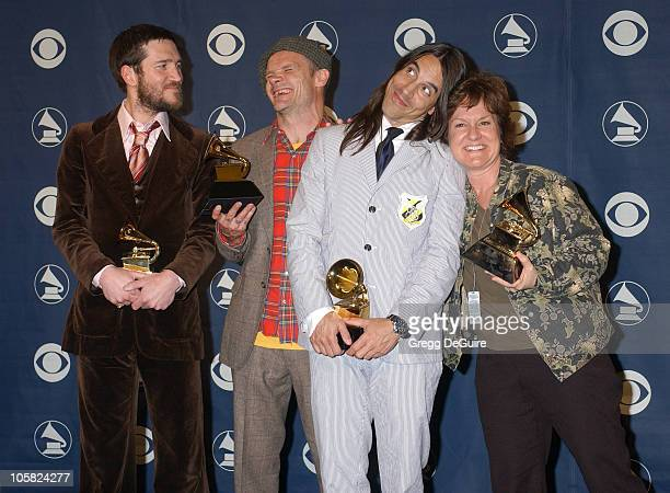 John Frusciante Flea and Anthony Kiedis of the Red Hot Chili Peppers winners Best Rock Album Best Rock Song for 'Dani California' and Best Rock...