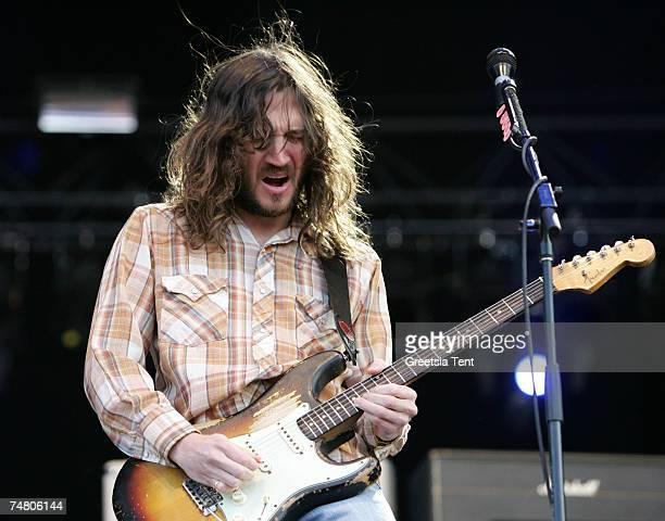 John Frusciante of Red Hot Chili Peppers in Concert at the Megaland in Landgraaf Netherlands