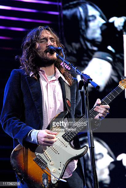 John Frusciante of the Red Hot Chili Peppers during Red Hot Chili Peppers in Concert at the Manchester Evening News Arena July 11 2006 at Manchester...