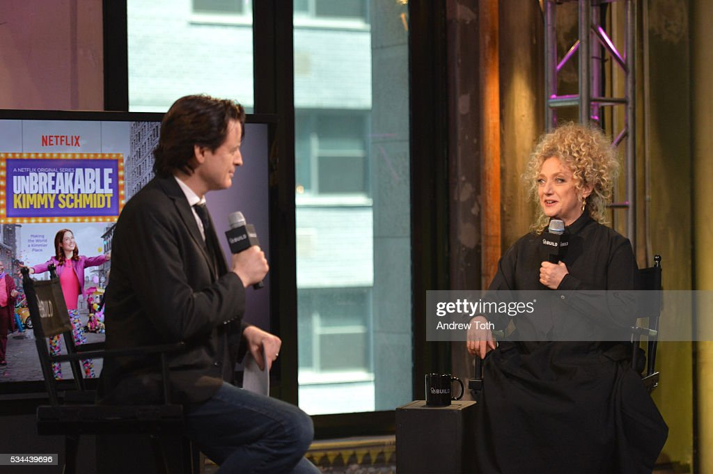 John Fugelsang and <a gi-track='captionPersonalityLinkClicked' href=/galleries/search?phrase=Carol+Kane&family=editorial&specificpeople=215175 ng-click='$event.stopPropagation()'>Carol Kane</a> attend AOL Build Presents <a gi-track='captionPersonalityLinkClicked' href=/galleries/search?phrase=Carol+Kane&family=editorial&specificpeople=215175 ng-click='$event.stopPropagation()'>Carol Kane</a> discussing her role in Netflix's 'Unbreakable Kimmy Schmidt' at AOL Studios In New York on May 26, 2016 in New York City.