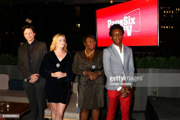 John Fugelsang Elizabeth Wagmeister Bevy Smith and Carlos Greer attend the Page Six TV Launch Party on September 13 2017 in New York City