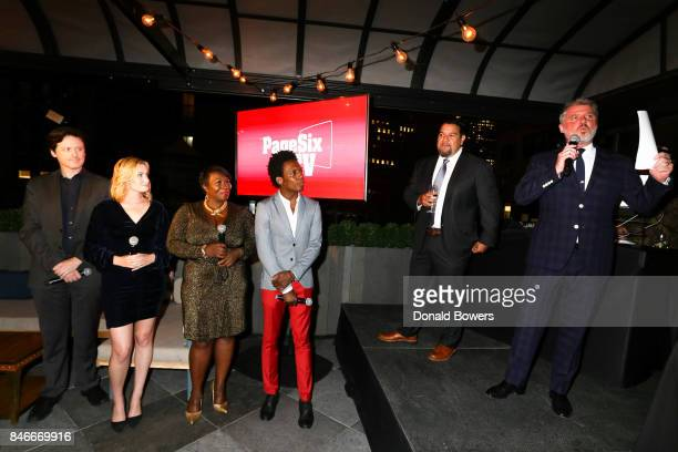 John Fugelsang Elizabeth Wagmeister Bevy Smith Carlos Greer Cris Abrego and Jesse Angelo attend the Page Six TV Launch Party on September 13 2017 in...