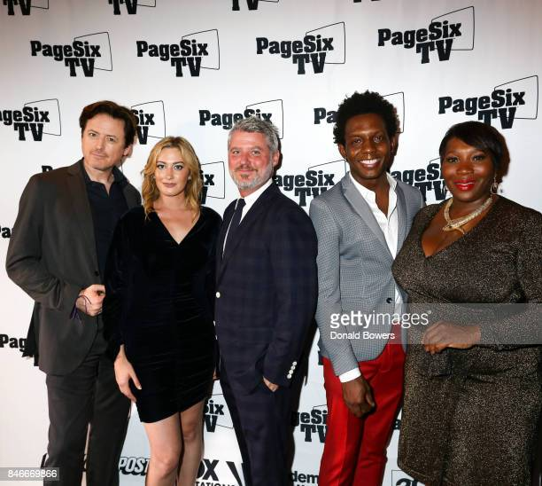 John Fugelsang Elizabeth Wagmeister Jesse Angelo Carlos Greer and Bevy Smith attend the Page Six TV Launch Party on September 13 2017 in New York City