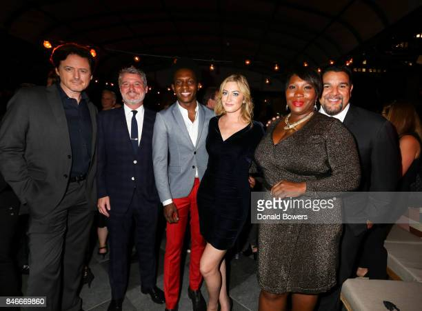 John Fugelsang Jesse Angelo Carlos Greer Elizabeth Wagmeister Bevy Smith and Cris Abrego attend the Page Six TV Launch Party on September 13 2017 in...
