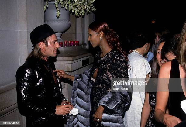 John Galliano and Iman at the Metropolitan Museum's Costume Institute gala exhibition New York New York 1999