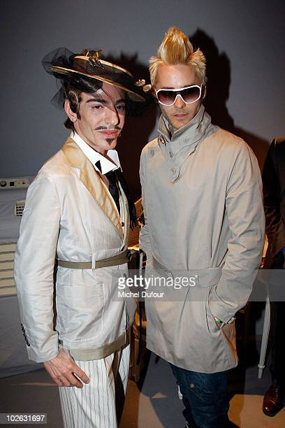 John Galliano and Jared Leto attend the Christian Dior Fall/Winter 201011 high fashion show as part of the Paris Haute Couture Fashion Week...