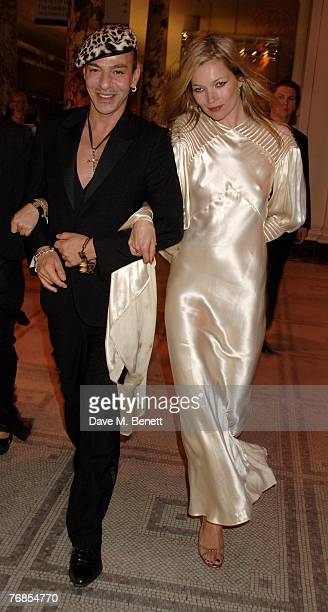 John Galliano and Kate Moss attend The Golden Age Of Couture VIP Gala at the Victoria Albert Museum on September 18 2007 in London England