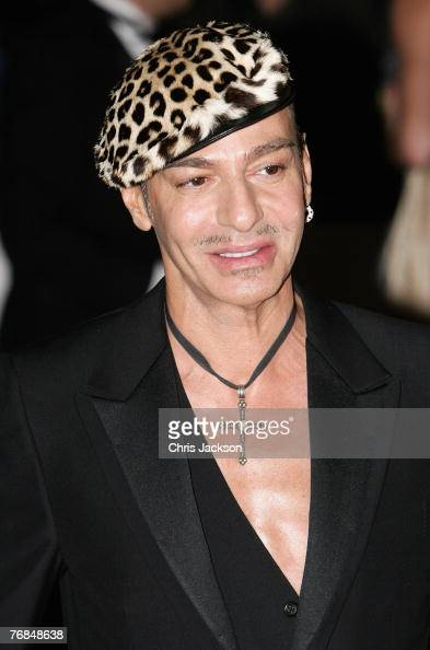 John Galliano arrives at the The Golden Age Of Couture party at the VA on September 18 2007 in London England