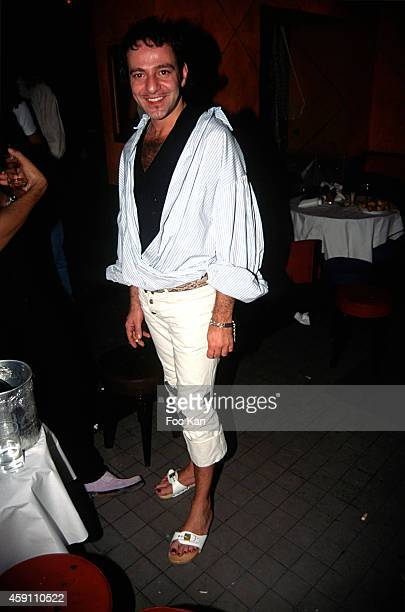 John Galliano attend a Bianca Li Party at Les Bains Douches in the 1990s in Paris France