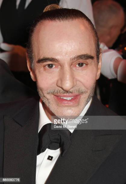 John Galliano attends a drinks reception ahead of The Fashion Awards 2017 in partnership with Swarovski at Royal Albert Hall on December 4 2017 in...