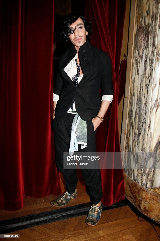 John Galliano attends in backstage the John Galliano Ready to Wear Spring/Summer 2011 show during Paris Fashion Week at Opera Comique on October 3, 2010 in Paris, France.