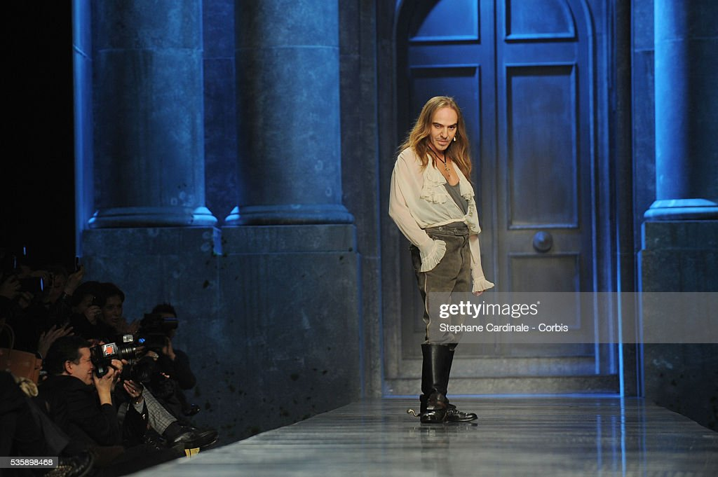 John Galliano attends the Christian Dior Ready To Wear show, as part of the Paris Fashion Week Fall/Winter 2010-2011.