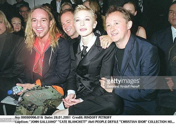 John Galliano 'Cate Blanchett at theChristian Dior Catwalk Menswear Autumn Winter 2001/2002 In Paris