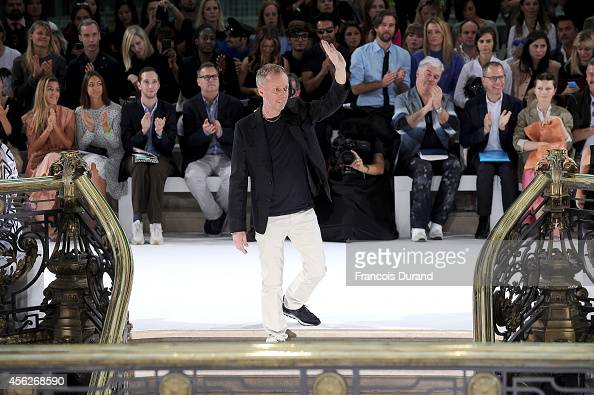 John Galliano creative director Bill Gaytten acknowledges the applause of the pblic after John Galliano show as part of the Paris Fashion Week...