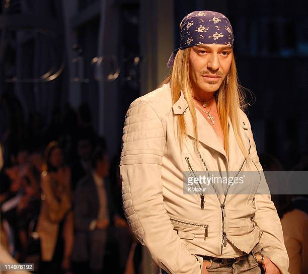 John Galliano designer during Dior 2007 Cruise Collection Show at LVMH in New York City New York United States