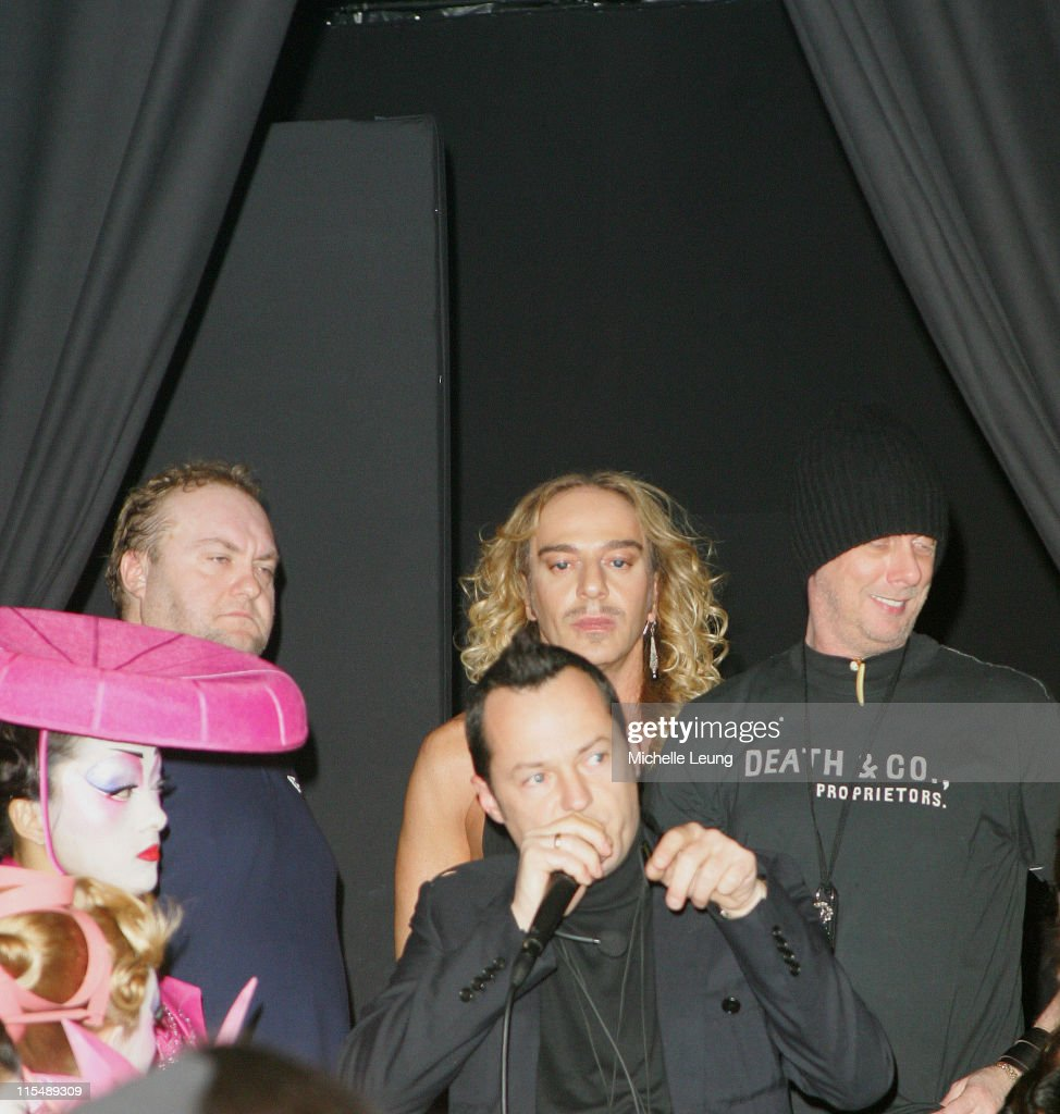 John Galliano designer during Paris Fashion Week Haute Couture Spring/Summer 2007 Christian Dior Backstage in Paris France