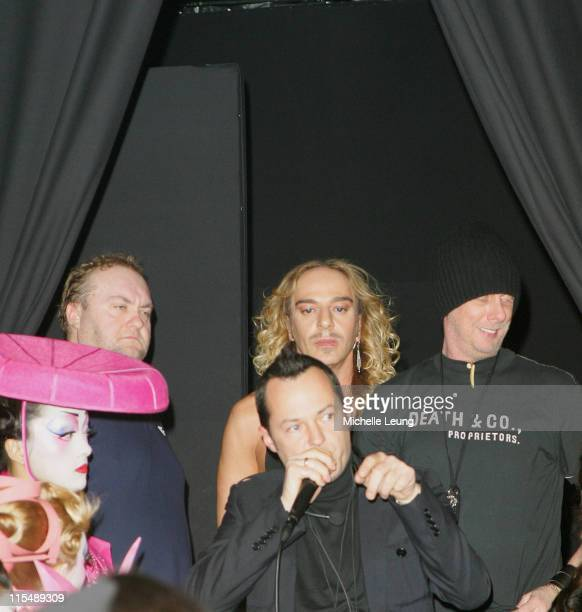 John Galliano designer during Paris Fashion Week Haute Couture Spring/Summer 2007 Christian Dior Backstage in Paris France