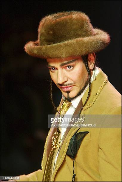 John Galliano FallWinter 200405 readytowear fashion show in Paris France On March 06 2004Designer John Galliano